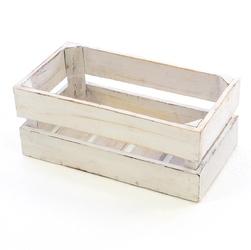 Vntage drewniane pudełko mini xsskrzynia na wino białe pudełko 36x17 cm