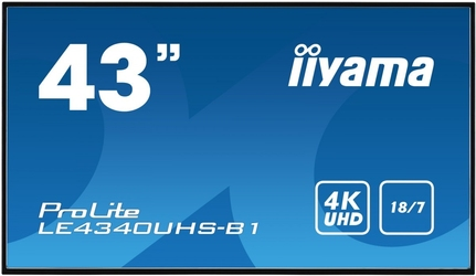 Iiyama monitor 43 le4340uhs-b1 4k,187,lan,amva3,usb,hd