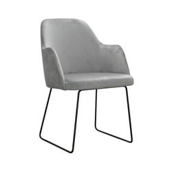 Nowoczesne krzesło tapicerowane bleik u na metalowych nogach