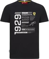 Koszulka scuderia ferrari f1 detail czarna - czarny