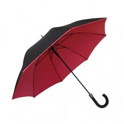 Długi parasol podwójna tkanina, czerwony