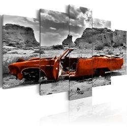 Obraz - pomarańczowe auto