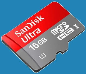 Karta pamięci micro sdhc 16gb sandisk ultra klasa 10