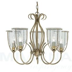 Silhouette lampa wisząca 5 antyczny mosiądz