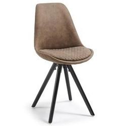 Tapicerowane krzesło lars brązowe