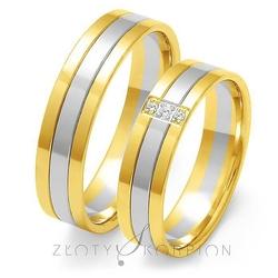 Obrączki ślubne złoty skorpion – wzór au-oe29