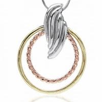 Fire srebrny wisiorek z różowym złotem