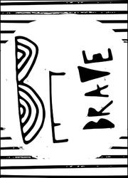 Bądź waleczny - plakat wymiar do wyboru: 59,4x84,1 cm