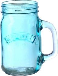 Słoik z uchwytem kilner kolorowe szkło niebieski