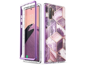 Etui supcase cosmo do samsung galaxy note 10 plus marble purple - fioletowy
