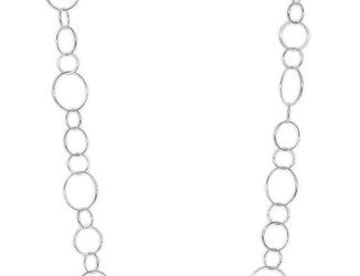 Długi naszyjnik ze srebra kółeczka 80 cm