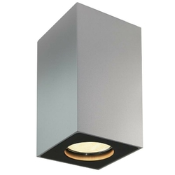 Kaspa - oprawa stropowa natynkowa 10 - squar - srebrna - srebrny