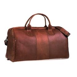 Casual skórzana torba podróżna na ramię jasny brąz bl10