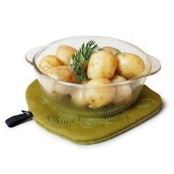 Podstawka pod gorące naczynie i rękawica kuchenna Bosign oliwkowa