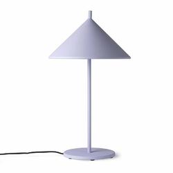 HK Living :: Lampa stołowa Triangle metalowa liliowy mat, rozm M