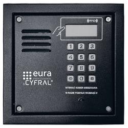 Panel cyfrowy cyfral pc-2000r czarny z czytnikiem rfid