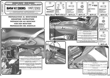 Stelaż pod kufer centralny givi monorack 680f bmw k 1200 rs 00-04, 1200 gt 03-04