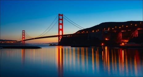 Most w san francisko - plakat wymiar do wyboru: 70x50 cm
