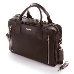 Skórzana torba na laptop brodrene c02 cortez ciemny brąz