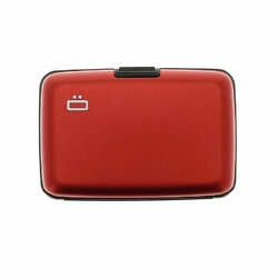 Portfel Aluminiowy Ogon Designs Stockholm Red RFID protect - Red