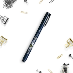 Flamaster brush pen fudenosuke, kolor czarny