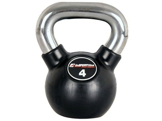 Hantla gumowana Kettlebell 4 kg   - Insportline - 4 kg