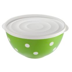 Salaterka  miska plastikowa z pokrywą dwukolorowa berossi 2,0 l zielona
