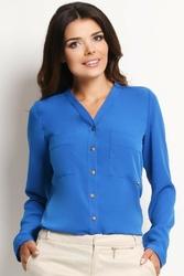 Niebieska koszula z kieszonkami