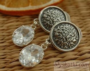ARMELIA - srebrne klipsy z kryształem