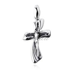 Srebrny pr.925 krzyżyk oksydowany