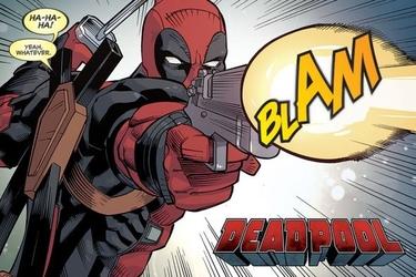 Deadpool blam - plakat komiksowy