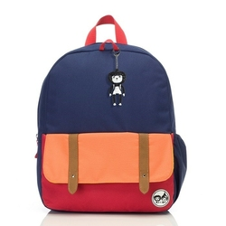 Plecak zipzoe junior - navy color block 5-9lat
