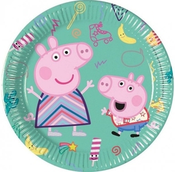 Talerzyki papierowe świnka peppa pig 8szt 20cm