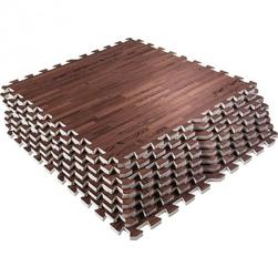 Maty ochronne 8 sztuk, wzór ciemnego drewna