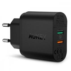 AUKEY PA-T13 Ultraszybka ładowarka sieciowa 2xUSB Quick Charge 3.0 6A 34.5W