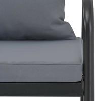 Sofa ogrodowa dwuosobowa ramo aluminium czarna