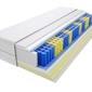 Materac kieszeniowy zefir max plus 150x225 cm miękki  średnio twardy 2x visco memory