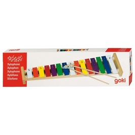 Duży kolorowy drewniany ksylofon