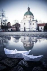 Warszawa nowe miasto - plakat premium wymiar do wyboru: 100x140 cm