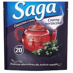 Saga herbata owocowa czarna porzeczka 20 torebek 34g