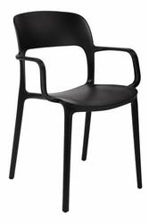 Krzesło z podłokietnikami flexi czarne - czarny