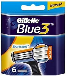 Gillette Blue 3, wkłady do maszynki do golenia, 3 ostrza, 6 sztuk