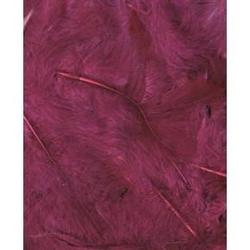 Dekoracyjne piórka puchate 3 g - bordowy - BORD