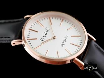 Czarny zegarek damski na pasku PACIFIC A278 zy567c