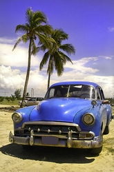 Kuba, limuzyna - fototapeta