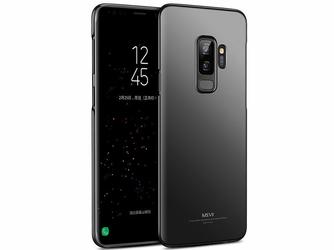 Etui MSVII Thin Case Samsung Galaxy S9+ Plus czarne + Szkło - Czarny
