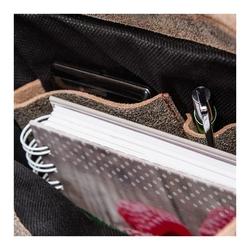Skórzana torba raportówka paolo peruzzi ga299 szara - szary