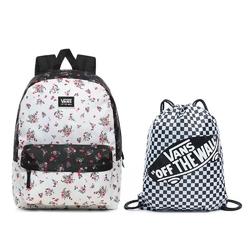 Plecak szkolny vans realm classic beauty floral patchwork + worek