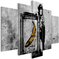 Obraz - dumna małpa 5-częściowy szeroki
