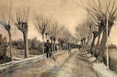 Road in etten, vincent van gogh - plakat wymiar do wyboru: 59,4x42 cm